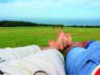 Urlaubsbild mit Füßen